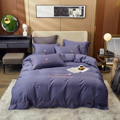 80S长绒棉 刺绣款 一鹿有你 2.0m(6.6英尺)床 帝王紫