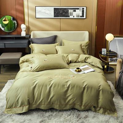 80S长绒棉 刺绣款 一鹿有你 2.0m(6.6英尺)床 橄榄绿
