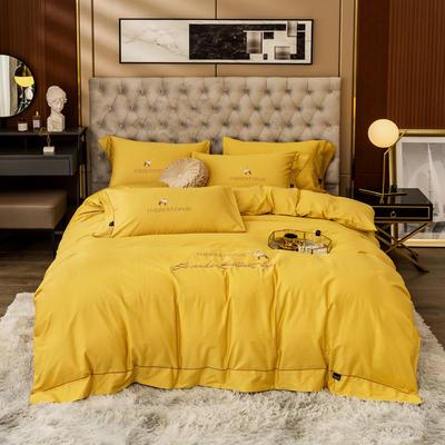 80S长绒棉 刺绣款 一鹿有你 2.0m(6.6英尺)床 金秋黄