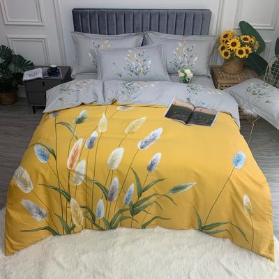 2021 全棉磨毛 花卉款  (更新中) 标准款 被套200*230 床单245*250 麦田印象 黄