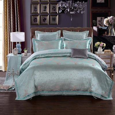 慕絲 床單vs床蓋 同款4-7件套 標準床單四件套 克洛維貴族-冰藍