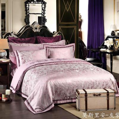 慕絲 床單vs床蓋 同款4-7件套 標準床單四件套 莫斯里安-灰紫