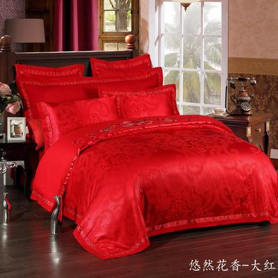 慕丝 床单vs床盖 同款4-7件套 被芯 悠然花香-大红