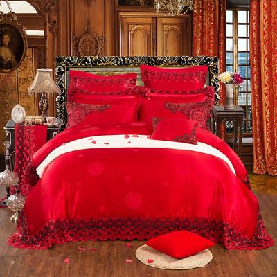 高端婚慶多件套 (選配)-美麗誘惑 美麗誘惑 加大床單式六件套