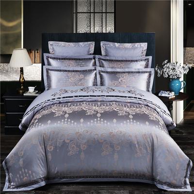 慕絲 床單vs床蓋 同款4-7件套 標準床單四件套 伊人甜夢-銀灰