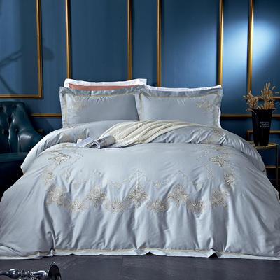 60長絨棉貢繡花  居家簡歐風四件套 標準床單款四件套 緹雅