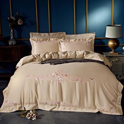 60长绒棉贡绣花  居家简欧风四件套 标准床单款四件套 曼妮