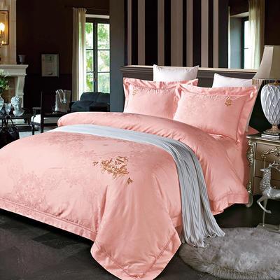 60长绒棉贡绣花  居家简欧风四件套 标准床单款四件套 索菲-玉色