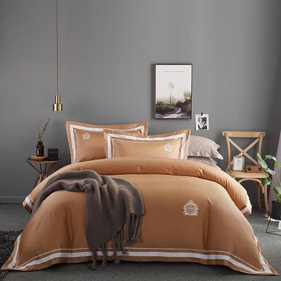 2020新款60长绒棉  居家四件套-七星系列 1.5m(5英尺)床单款 凯尔维特 钛古金