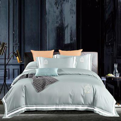 2020新款60长绒棉  居家四件套-七星系列 1.5m(5英尺)床单款 凯尔维特-奥丁灰