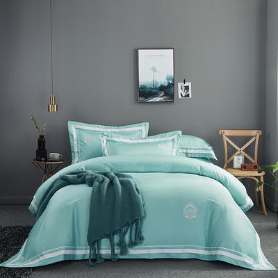 2020新款60长绒棉  居家四件套-七星系列 1.5m(5英尺)床单款 凯尔维特-克洛兰