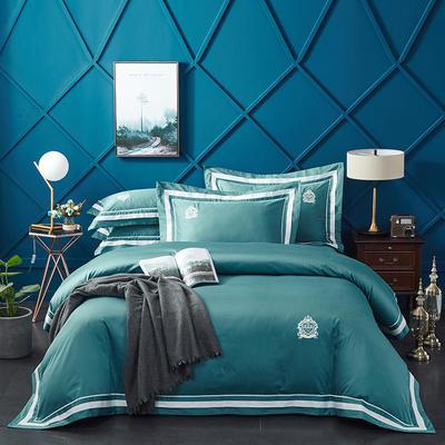 2020新款60长绒棉  居家四件套-七星系列 1.5m(5英尺)床单款 凯尔维特-珊瑚绿