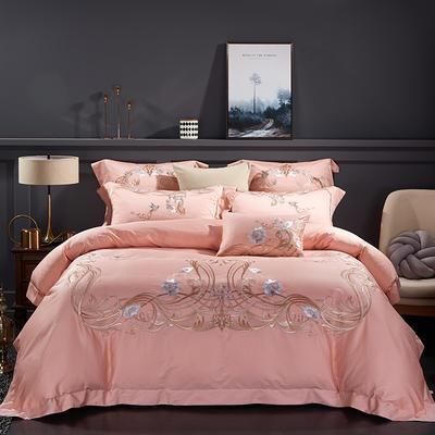 2020新款60長絨棉  居家四件套-睿系列 1.5m(5英尺)床單款 依戀藕粉