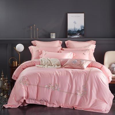 2020新款60長絨棉  居家四件套-睿系列 1.5m(5英尺)床單款 秘境粉玉