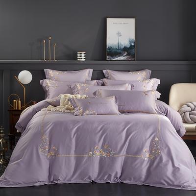 2020新款60長絨棉  居家四件套-睿系列 1.5m(5英尺)床單款 秘境丁香紫