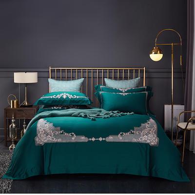 2020新款60長絨棉  居家四件套-睿系列 1.5m(5英尺)床單款 普羅旺斯墨綠