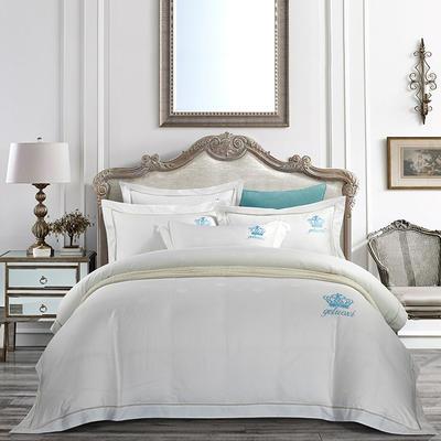 2020新款60長絨棉  居家四件套-睿系列 1.5m(5英尺)床單款 索菲亞 -白