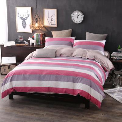 全棉13372良品风简约北欧四件套精梳棉系列 标准号(适用1.5-1.8米床) 美丽印象-咖