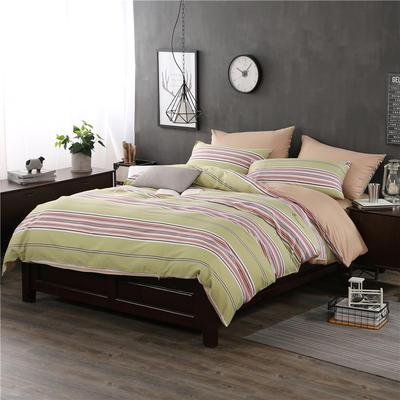 全棉13372良品风简约北欧四件套精梳棉系列 标准号(适用1.5-1.8米床) 永恒瞬间-红