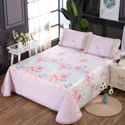 250D水洗冰丝席床单款 凉席可折叠可机洗水洗三件套 250x250cm(枕套一对) 罗弗兰德