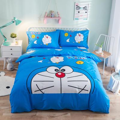 全棉大版卡通四件套 纯棉学生儿童公主小清新三件套床单床笠 小号床单款 叮当猫