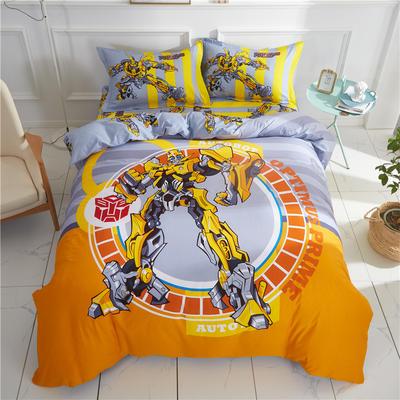 全棉大版卡通四件套 纯棉学生儿童公主小清新三件套床单床笠 小号床单款 大黄蜂