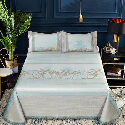 2019春夏新款凉席 600D可水洗冰丝凉席床单款 250x250cm 夏威夷