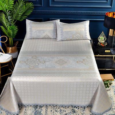 2019春夏新款凉席 600D可水洗冰丝凉席床单款 250x250cm 中国结