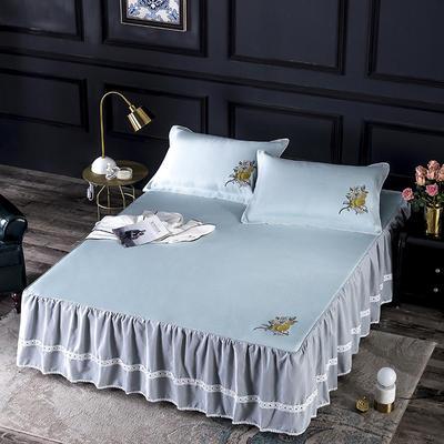600D冰丝席床裙款 (绑带长短可调节) 150x200 米兰床裙