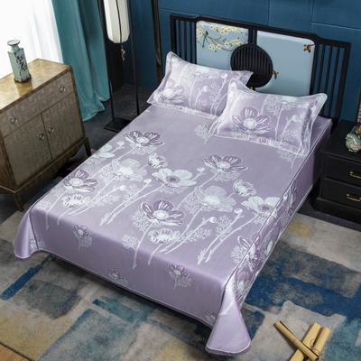 600D高精密冰丝席床单款(绑带可调节) 1.5m(5英尺)床 心花怒放