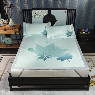 600D数码印花冰丝席平铺款(绑带可调节) 1.5m(5英尺)床 枫林晚