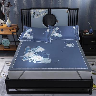 600D数码印花冰丝席平铺款(绑带可调节) 1.5m(5英尺)床 静夜思