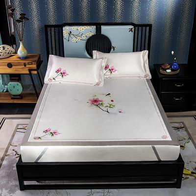 600D数码印花冰丝席平铺款(绑带可调节) 1.5m(5英尺)床 晓蹄春雨