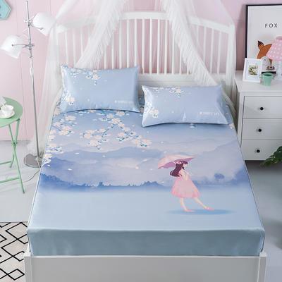 600D冰丝席床包床笠款凉席三件套 1.5m(5英尺)床 恍如初见