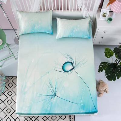 600D冰丝席床包床笠款凉席三件套 1.5m(5英尺)床 水晶之恋