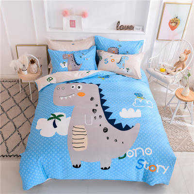 全棉大版卡通四件套 纯棉学生儿童公主小清新三件套床单床笠 小号床单款 侏罗纪
