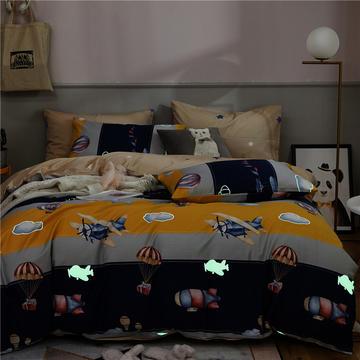 全棉13372星空夜光系列 月光四件套