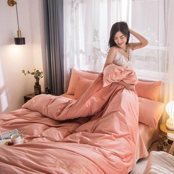3D绣花荷兰绒系列 刺绣保暖水晶牛奶法莱绒四件套