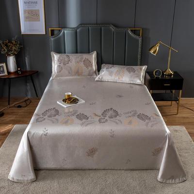 20新款 800D水洗冰丝席床单款 夏季可水洗干洗凉感冰丝凉席 250*250cm3件套 巴黎夜-灰
