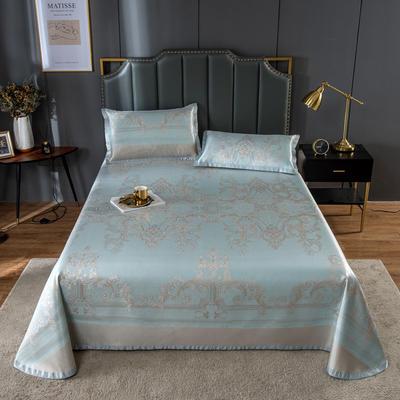20新款 800D水洗冰丝席床单款 夏季可水洗干洗凉感冰丝凉席 250*250cm3件套 欧式恋曲