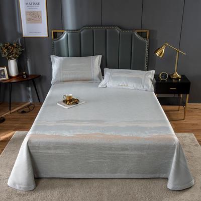 20新款 800D水洗冰丝席床单款 夏季可水洗干洗凉感冰丝凉席 250*250cm3件套 森林幽静