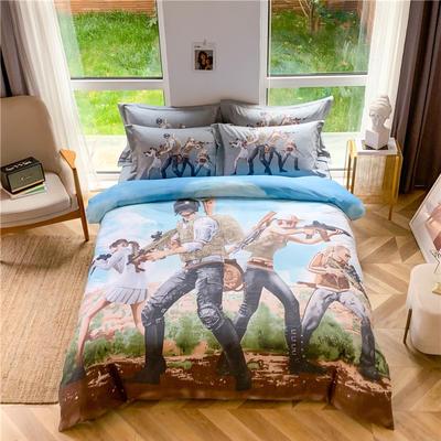 全棉大版卡通四件套 纯棉学生儿童公主小清新三件套床单床笠 小号床单款 兄弟联盟