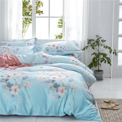 20新款 天丝四件套 双面天丝印花水洗莱赛尔系列 标准号(适用1.5-1.8米床) 花染馨香