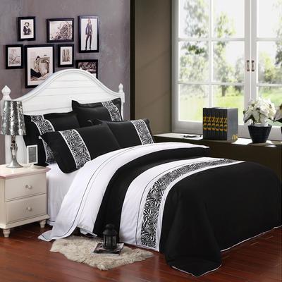 精梳棉绣花四件套系列 1.5m(5英尺)床 简约生活