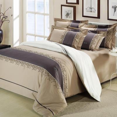 精梳棉绣花四件套系列 1.5m(5英尺)床 似水流年