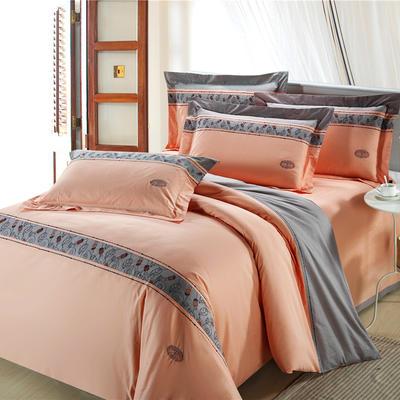 精梳棉绣花四件套系列 1.5m(5英尺)床 雨露华清