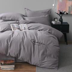 人字呢保暖磨毛四件套 1.5m(5英尺)床 即墨灰