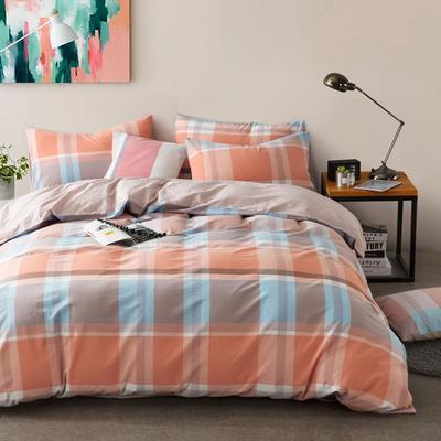 色织水洗棉条纹系四件套 1.8m(6英尺)床 简语空间-浅粉