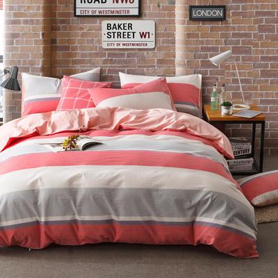 色织水洗棉条纹系四件套 1.8m(6英尺)床 塞纳清晨-玉