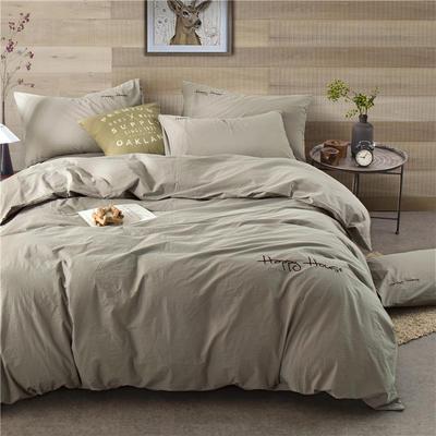 年全棉水洗棉纯色系三件套 1.0m(3.3英尺)床 087(灰驼)